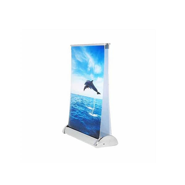 Desktop double sided banner stand