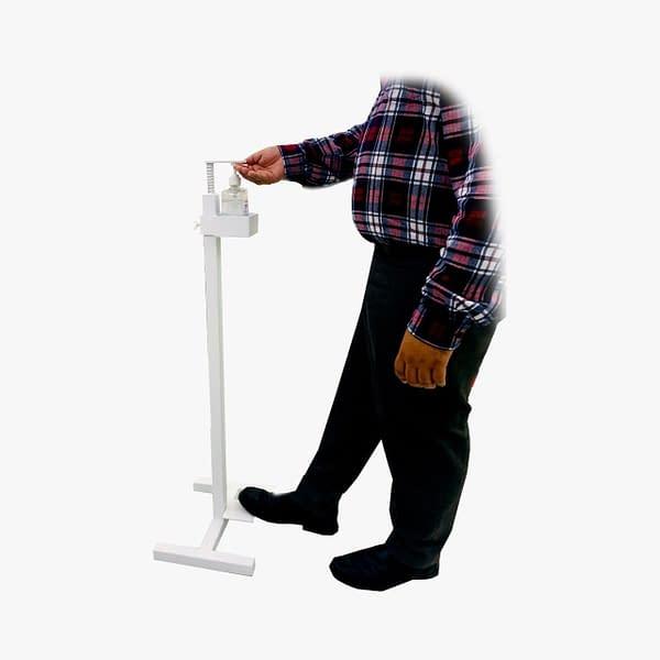 Leg press sanitization stand
