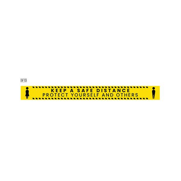 Safe distance floor stickers dubai