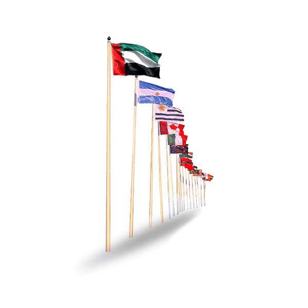 Hoisting flag dubai