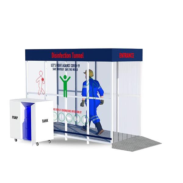 Disinfection kiosk