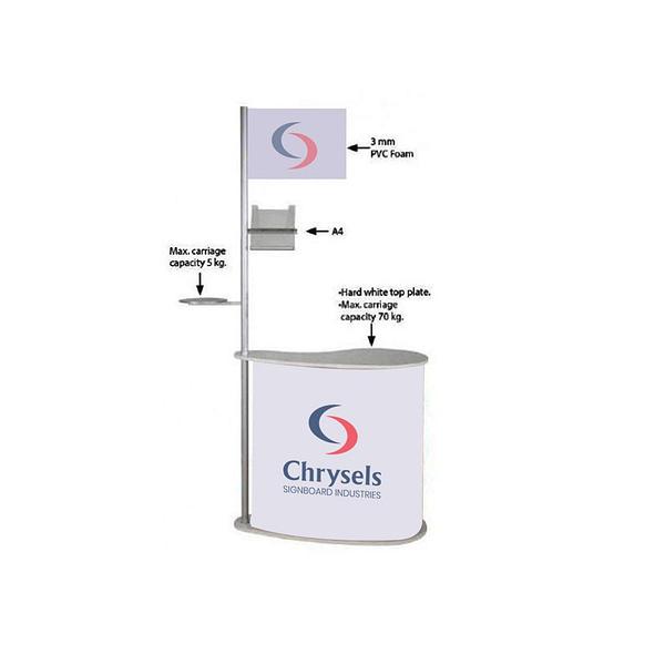 Promo stand with pole system dubai