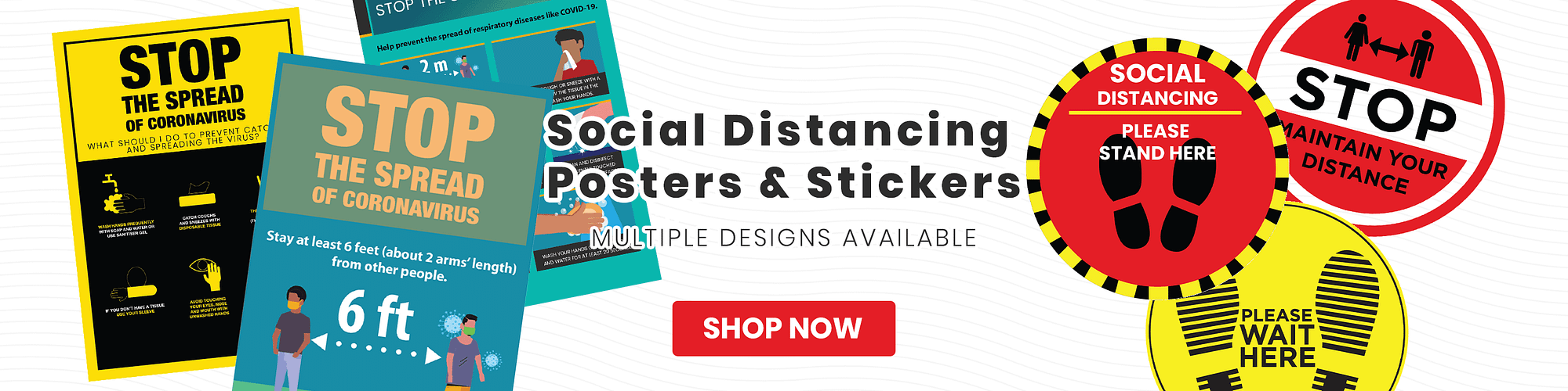 Social Distancing Posters & Stickers