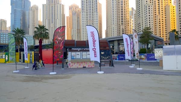 Event curve flag dubai