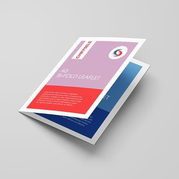Leaflet front cover printing dubai
