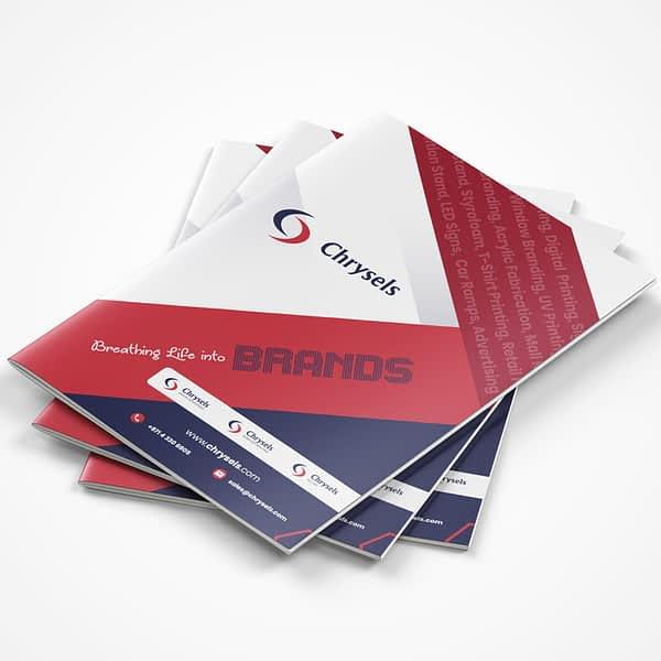 Chrysels brochure design