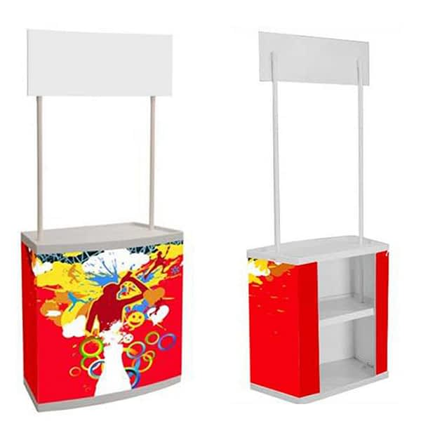 Advertising display promotional table