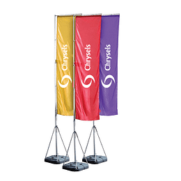 Advertising telescopic flags