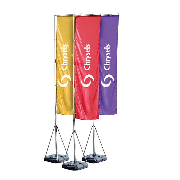 Advertising telescopic flags