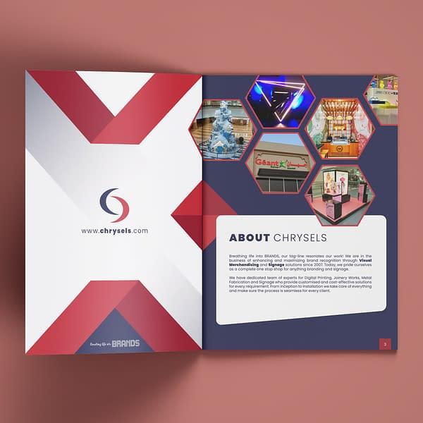 A4 Chrysels Brochure design