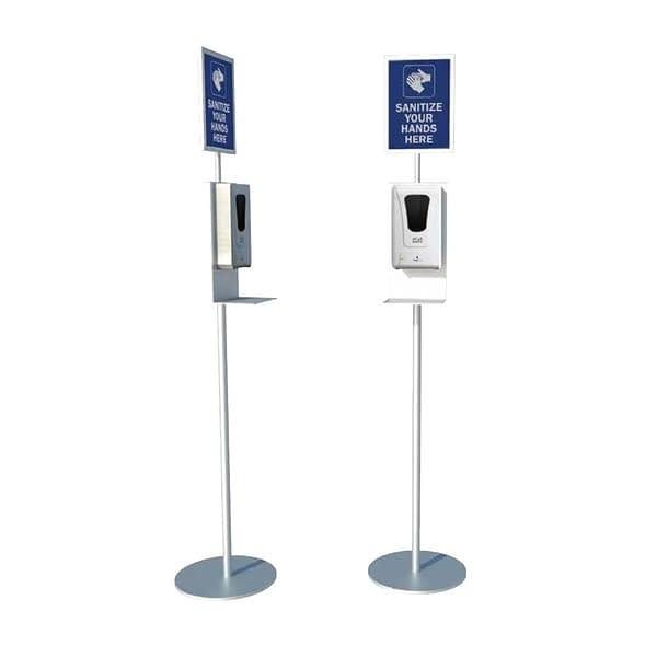 Hand sanitizing metal stand