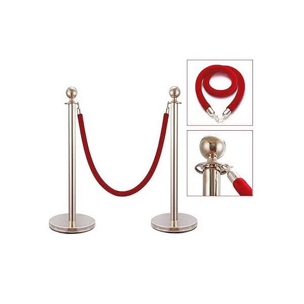 SS Chrome Finish Queue Safety Barrier
