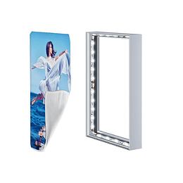 One way vision digital glass branding