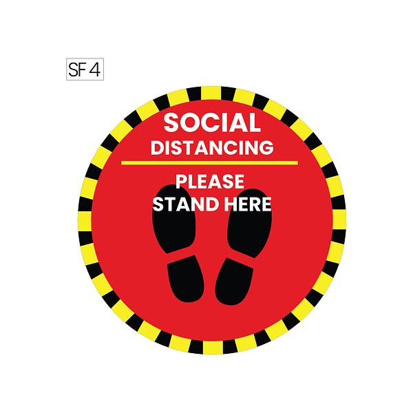 Social distancing floor stickers dubai