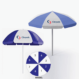 Advertising umbrellas
